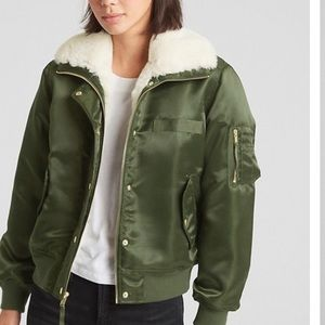Gap Faux Fur Bomber Jacket